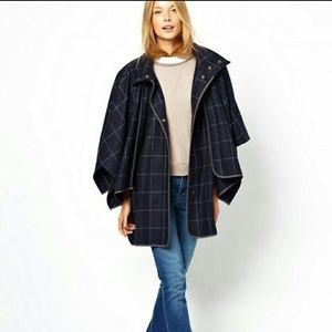 ASOS Checkered Wool Coat